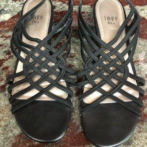Impo Flex Women's Stretch Strappy Wedge  Sandals